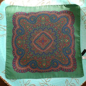 Beautiful Nordstrom Paisley Silk Pocket Square